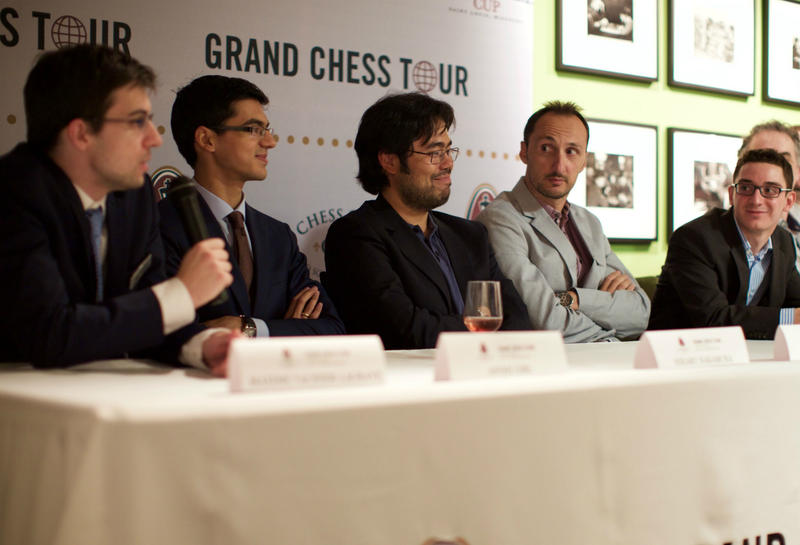 Chess Grandmasters gather in St. Louis before the second leg of the grand tour.
