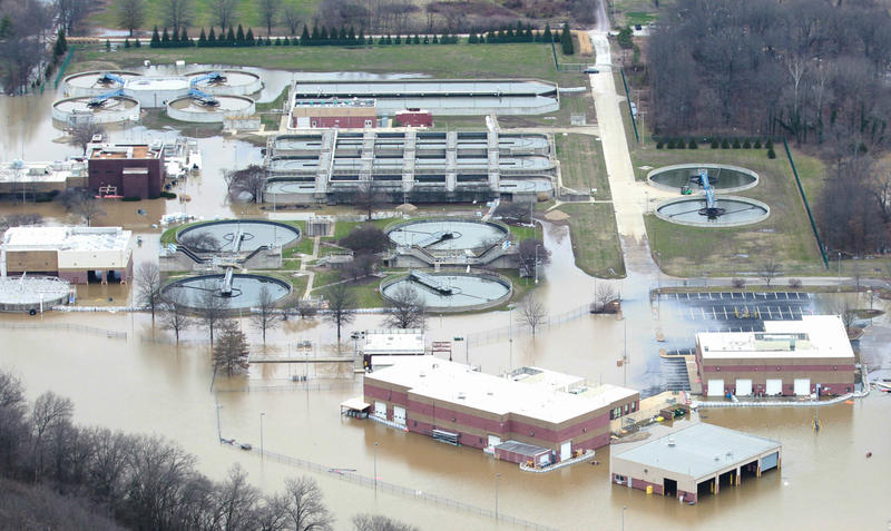 The Fenton Water Treatment Plant was knocked offline due to historic flooding.