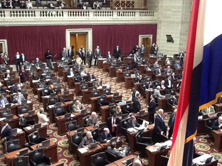 Floor of the Missouri House during Wednesday's debate on ethics bills.