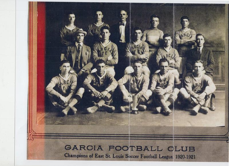 Spanish soccer players in East St. Louis from 1920-21.