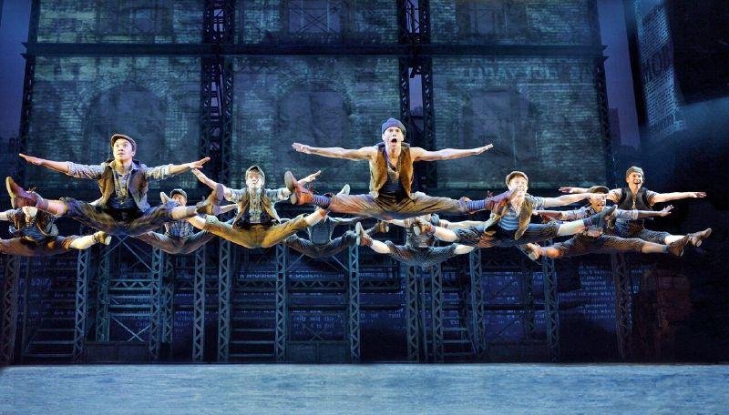 The newsies actors are triple threats: actors, singers and dancers.