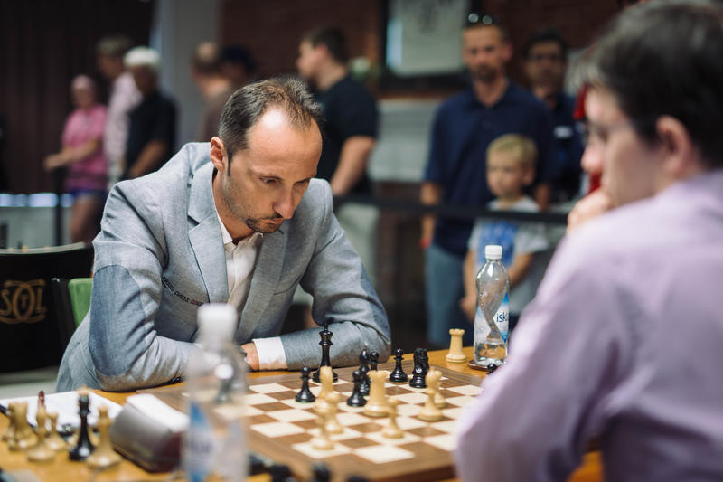 Veselin Topalov plays in the 2015 Sinquefield Cup.