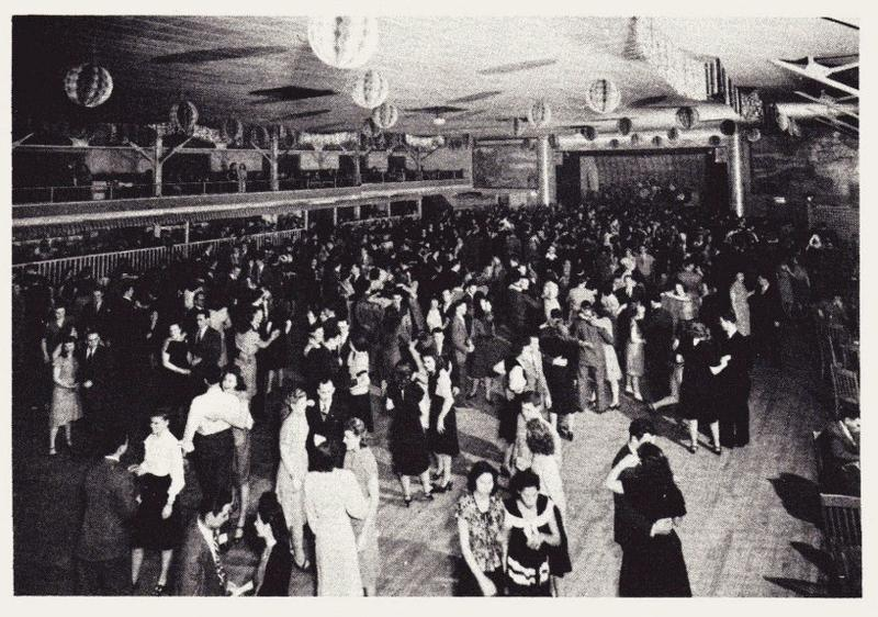 A crowd at the Coliseum Ballroom in 1949.