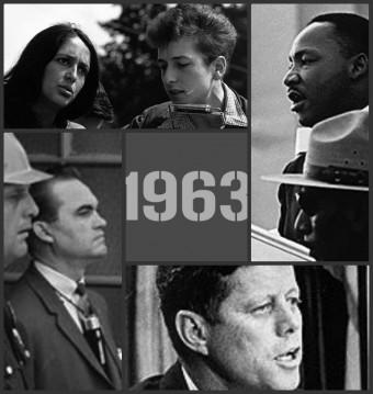 "Wikipedia Clockwise from top: Joan Baez and Bob Dylan at the March on Washington; The Rev. Dr. Martin Luther King Jr. on the same day, Aug. 28, 1963, delivers the ""I Have a Dream Speech""; President John F. Kennedy addresses the nation on civil rights, Jun"