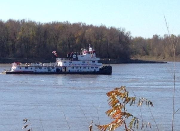 barge shipping, Mississippi River