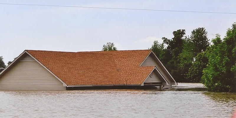 Twan Robinson's house during the flooding