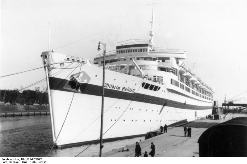 A 1939 picture of the Wilhelm Gustloff, which sank in 1945 with over 9,000 refugees aboard.