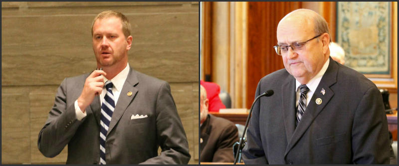 Eric Schmitt, left, a state senator from Glendale, will be opposed by Dan Brown, a state senator from Rolla, in the Republican primary for state treasurer.