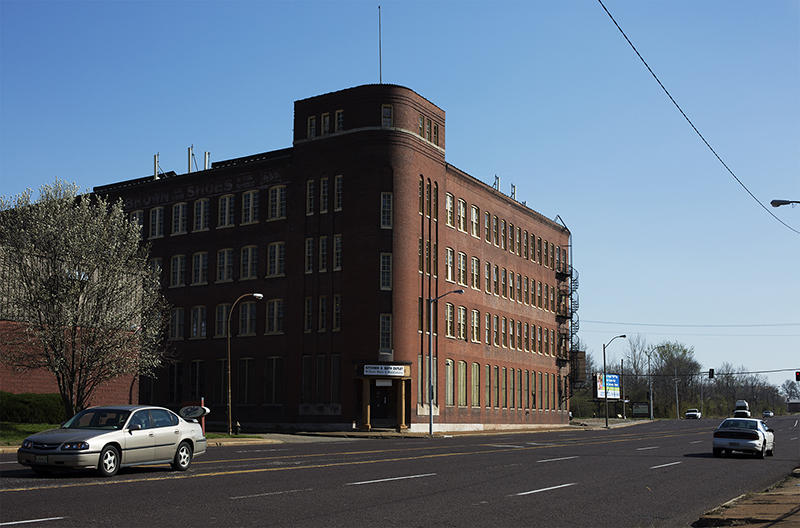 The former Buster Brown Blue Ribbon building is slated for demolition as part of the development project for the NGA. It sits just north of Cass and Jefferson avenues