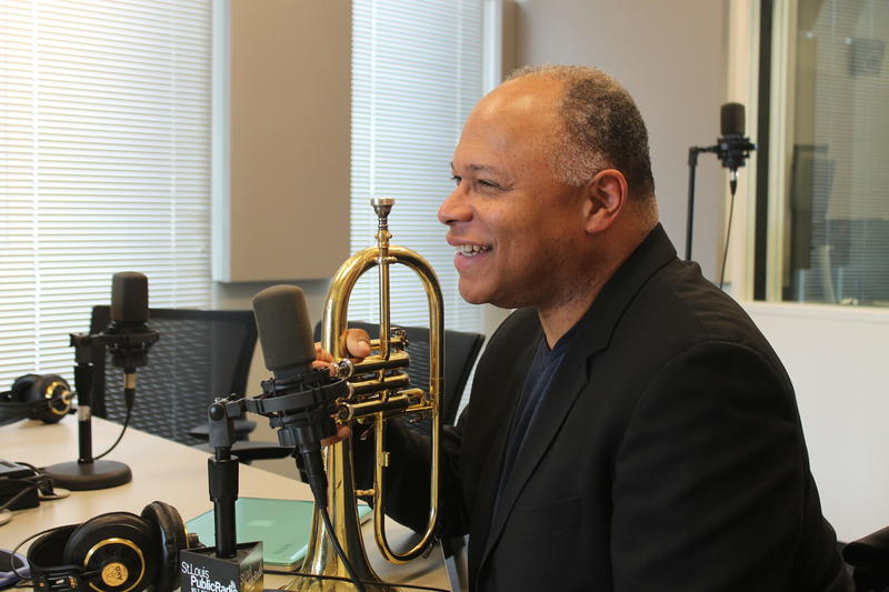 Trumpet virtuoso Byron Stripling brought his trumpet to the studio.