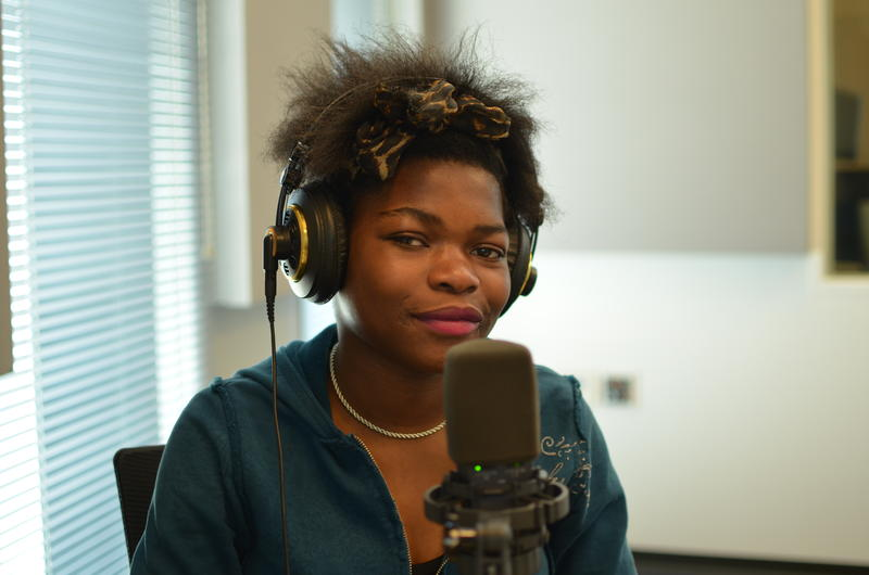 Faraja Lungele, a 14-year-old Kenyan immigrant and participant in Gitana Productions.