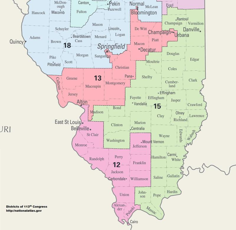 Southern Illinois' congressional districts 2016