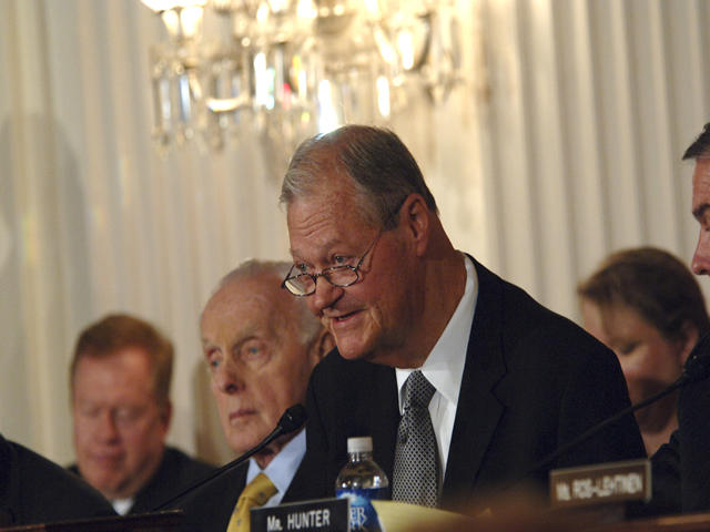 Skelton presides over a meeting of the House Armed Service Committee. Skelton was chairman of the powerful committee on military affairs from 2007 to 2011.
