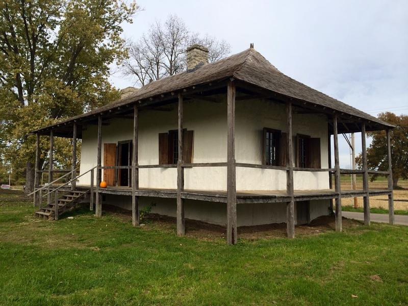 The historic Bequette-Ribault House in Ste. Genevieve was restored in 2014.