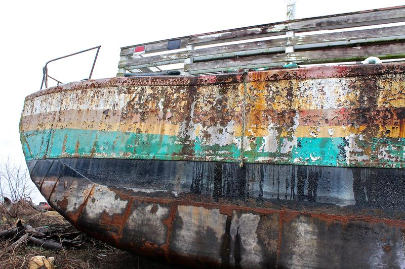 Weather and time have taken their toll on the century-old Goldenrod Showboat.