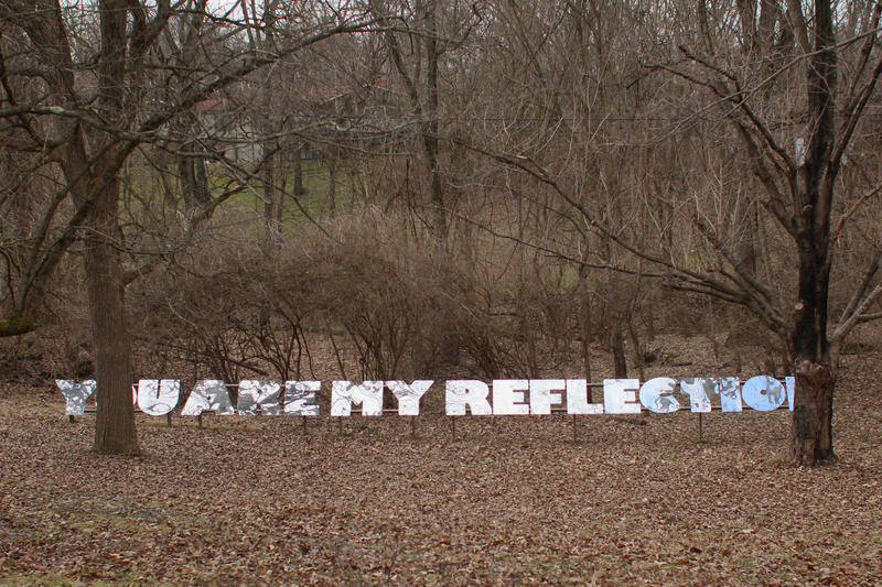 You Are My Reflection by Erin Rachel Hudak. Installed with the help of St. Louis Community College students at Paul Artspace