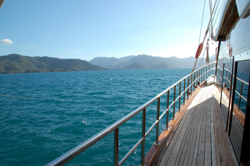 Setting sail on our Turkish gulet for a four-day cruise along the Turquoise Coast.