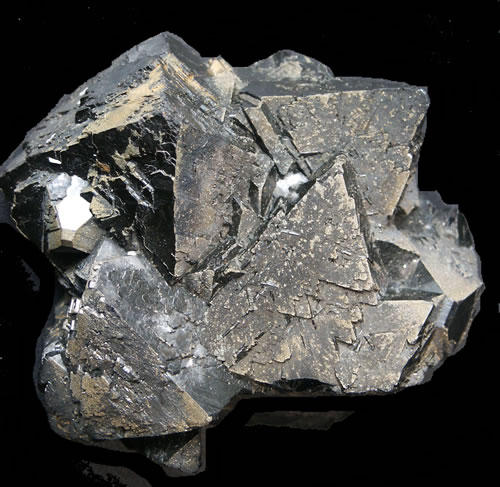 Sphalerite, or zinc ore, from the Royal Cornwall Museum Collection.