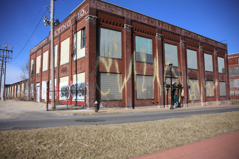 The Missouri Belting Company, considered one of the most endangered buildings in St. Louis by the Landmarks Association of St. Louis.