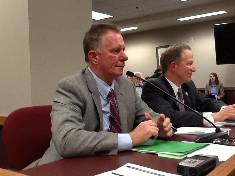 Dan Mehan of the Missouri Chamber testifies against the proposed constitutional amendment, saying it would have a negative economic impact on Missouri.