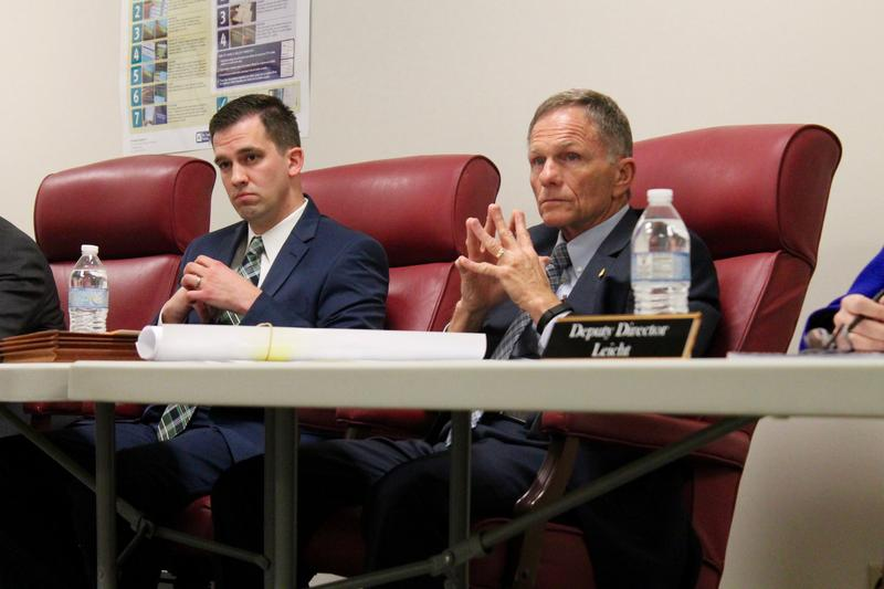 St. Louis County Board of Elections director Gary Fuhr, right, announced his upcoming retirement at this week's Board of Election Commissioners' meeting.