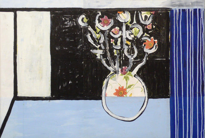 Matisse's Window I Acrylic, oil on canvas 31 x 44 1/2 inches (framed)