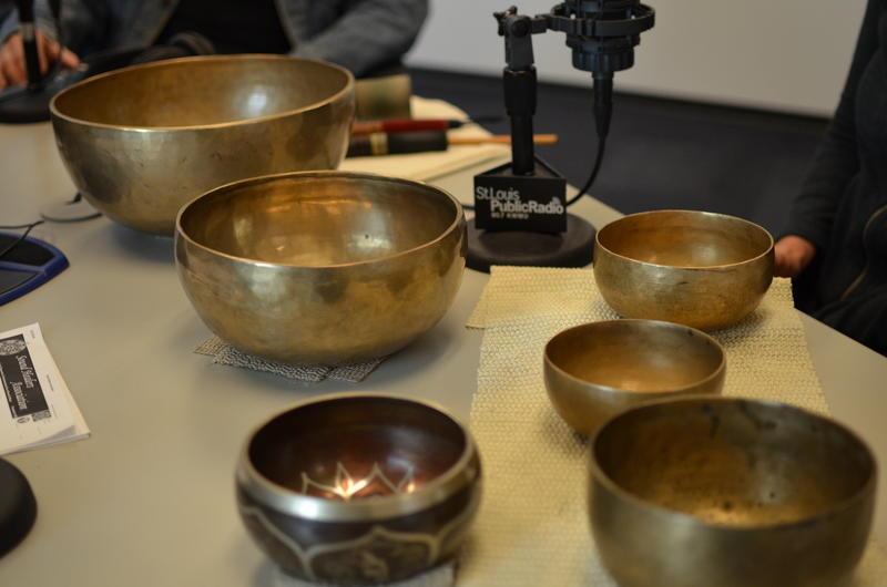 Pati Pellerito's Himalayan singing bowls.