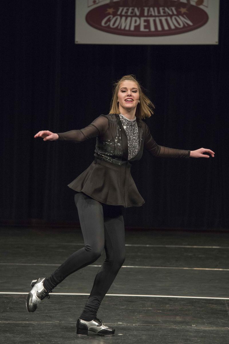 Abby Zaiz performs her tap routine.