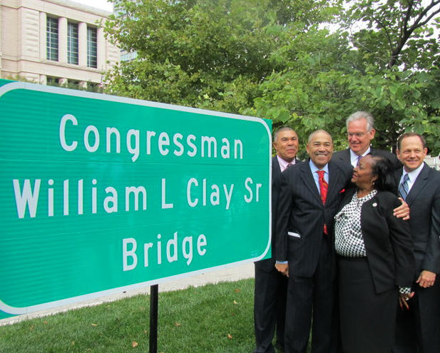 Lacy and Bill clay, Gov. Jay Nixon, Mayor Slay - need ID on woman