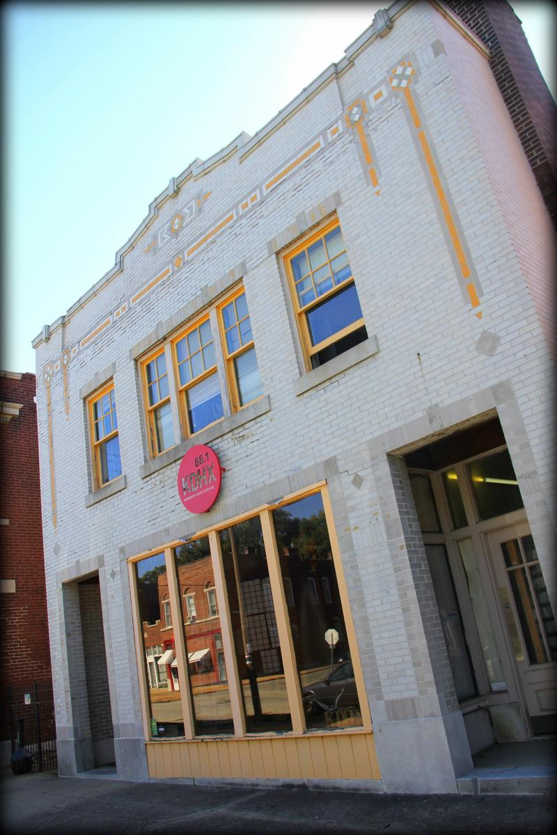 The old KDHX building was a converted bakery.