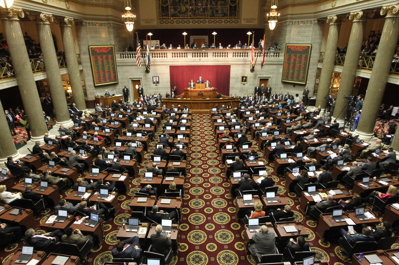 The chambers of the Missouri House of Representatives.