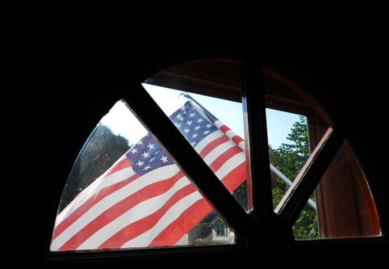 An American flag flies outside Linda Austin's St. Louis home on a past Memorial Day.