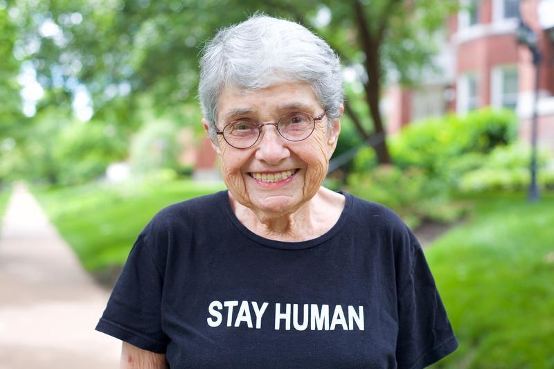 Hedy Epstein in her St. Louis neighborhood