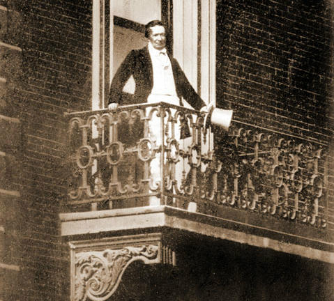 Henry Shaw at his townhouse at 7th and Locust.