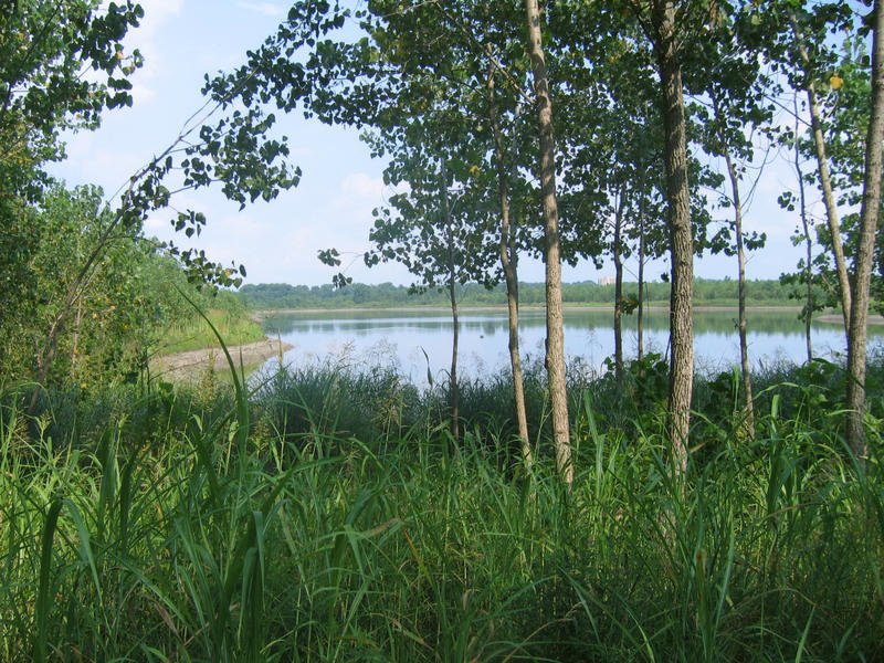 The lake at Chesterfield Valley, which was the pit formed when the Monarch Levee was reconstructed after the flood of 1993.