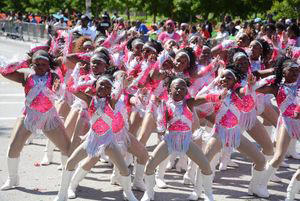 Diva sweat girls perform at the 2016 Annie Malone Children and Family Service Center's annual May Day Parade.