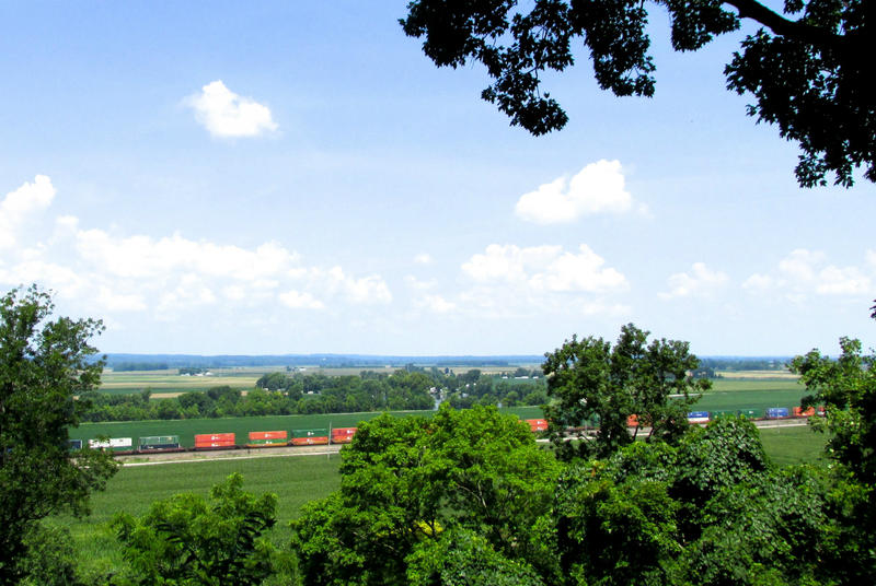 A view of the floodplain from Valmeyer's Rock City development.