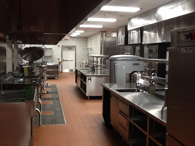 Kitchen facilities inside the new ECC & Services Building, where meals will be prepared daily for patients.