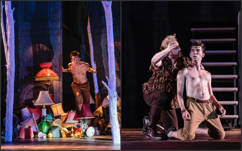 Austin and Ryan Jacobs share the role of Puck in A Midsummer Night's Dream. Tim Carter is with Ryan on the right. Carter plays the role of Oberan.
