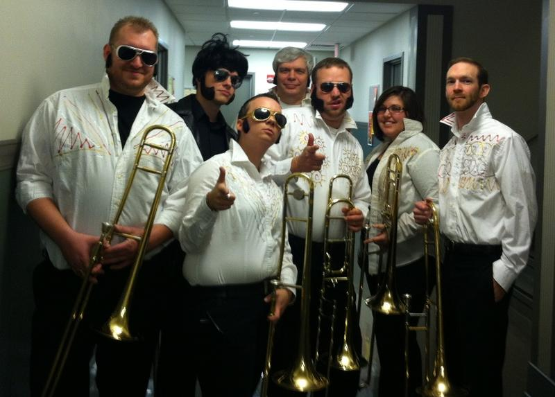 BandTogether musicians dressed as Elvis in a 2012 concert called Godzilla Eats Las Vegas