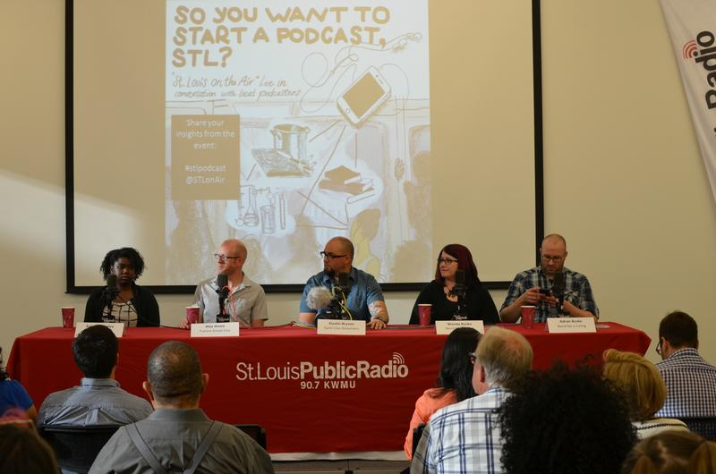 Kameel Stanley, Alex Ihnen, Dustin Bryson, Wendy Buske and Adron Buske share their podcast wisdom at a St. Louis on the Air live recording event on June 9, 2016.