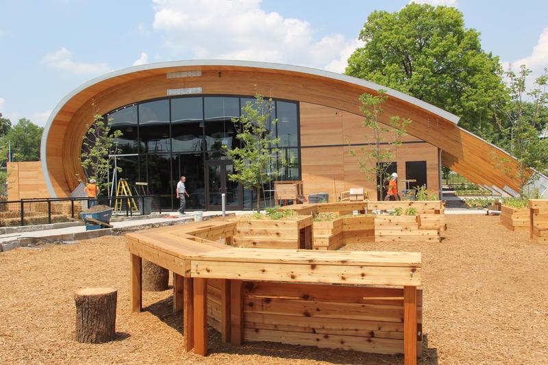 The GROW pavilion, the centerpiece of the Saint Louis Science Center's new exhibit.