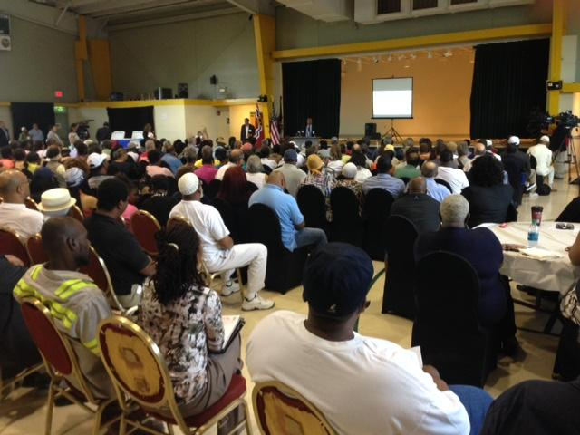 About 200 people attended a meeting Monday night held by the city to talk about way the new NGA facility will connect with the neighborhood.
