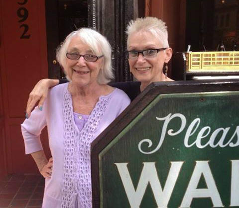 Karen Duffy, left, and Margaret Kelly, a Duff's waiter since 1978.
