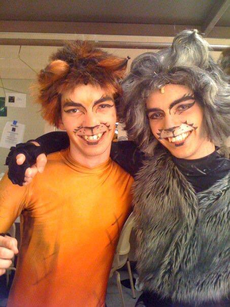 Ryan and Austin Jacobs at 16 in a production of Cats