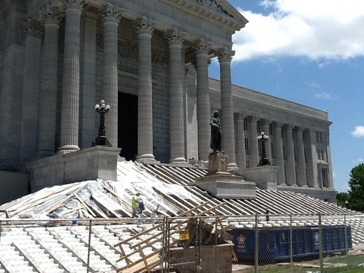A $40 million restoration project is underway at the Missouri Capitol. Phase One, on the south side of the building, is scheduled to be finished by mid-December.