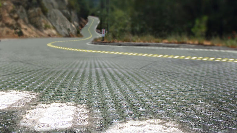 An artist's rendition of what a solar roadway could look like.