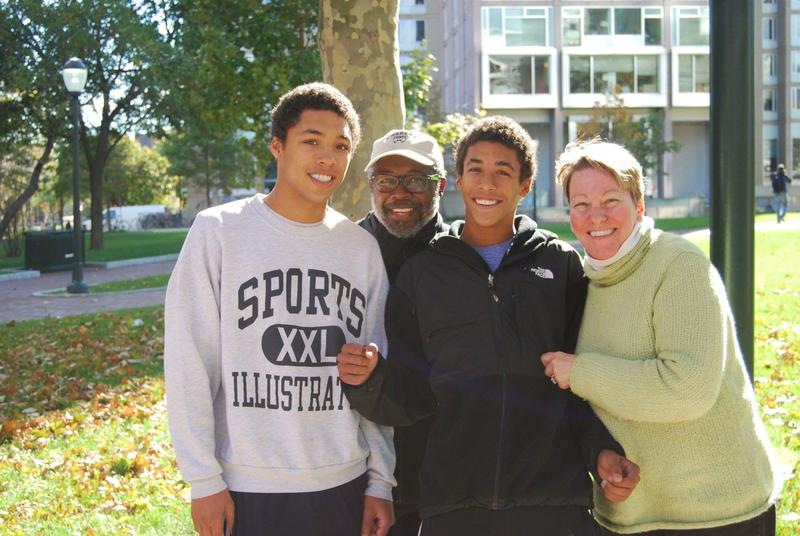Brian Witherspoon with his family in a 2010 photo. From left:  Colin, Brian, Andrew, and Jan Good. Jan, a criminal defense attorney and mother of two, died in 2013, after battling an aggressive form of brain cancer.