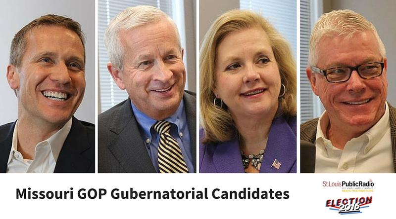 Eric Greitens, John Brunner, Catherine Hanaway and Peter Kinder are campaigning to become Missouri's GOP gubernatorial candidate.
