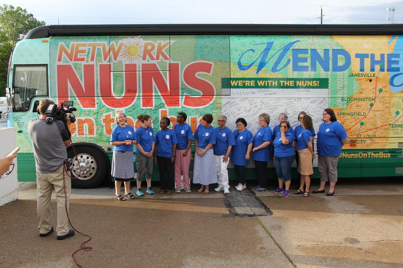 Nuns on the Bus, a program of NETWORK lobby, came through St. Louis on July 14 and has since moved on to the Republican National Convention in Cleveland, Ohio (pictured).